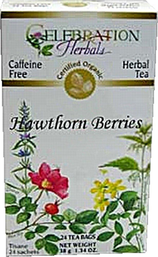 Celebration Herbals Organic Hawthorne Berries Tea Caffeine Free -- 24 Herbal Tea Bags ** Visit the image link more details. (This is an affiliate link and I receive a commission for the sales)