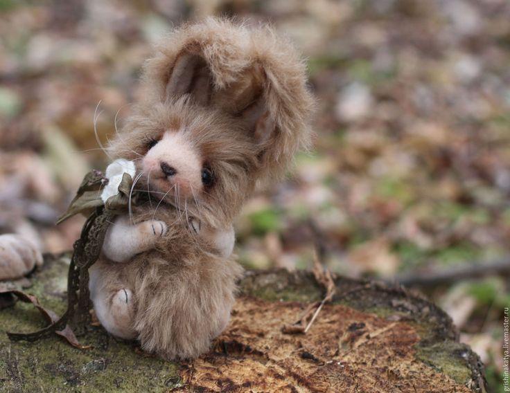 Купить Авторский Тедди кролик - бежевый, тедди медведи, мишки тедди, зайка тедди