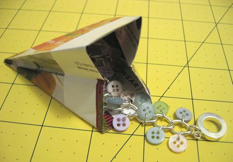 A simple, easy to make gift bag using recycle materials. .  Free tutorial with pictures on how to make a gift bag in under 20 minutes by papercrafting with paper and ruler. How To posted by milomade. Difficulty: Easy. Cost: Cheap. Steps: 20