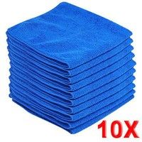 Mama | 10pcs Microfiber Wash Clean Towels Car Cleaning Duster Soft Cloths 30x30cm Blue