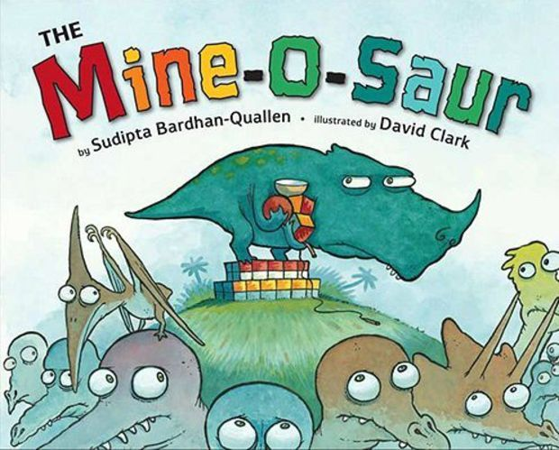 The Mine-O-Saur children's book that teaches values, such as generosity.25 Children's Books to Teach Your Kids Meaningful Values: