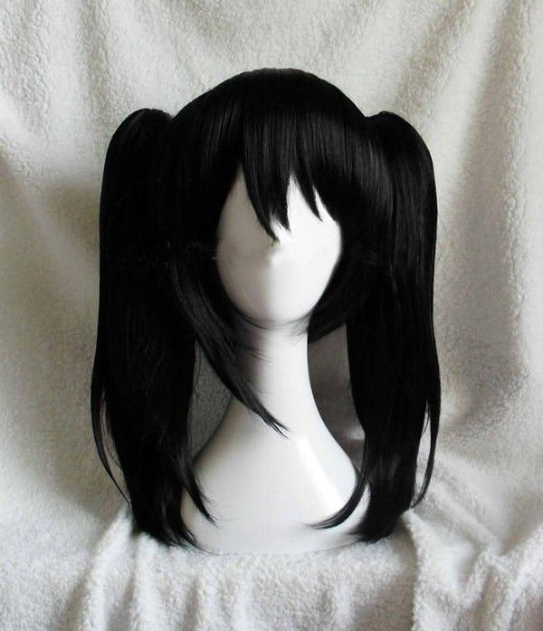 Love Live ! LoveLive! Yazawa Niko Nico double horsetail short black anime cosplay wig hair Heat resistance fibre free shipping