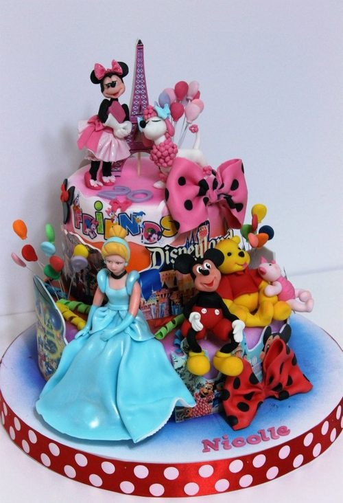 117 best Disney cakes images on Pinterest Wedding cakes