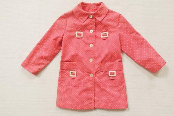 Vintage Pink Polka Dot Lightweight Jacket by LittleMittenVintage, $34.00