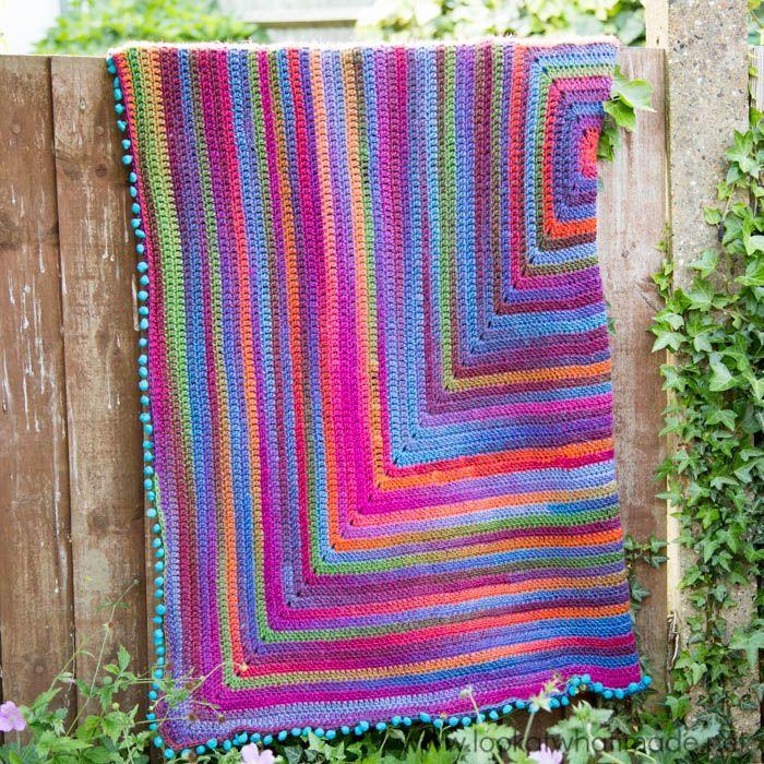 Joy's Journey Crochet Blanket Pattern :http://www.lookatwhatimade.net/crafts/yarn/crochet/free-crochet-patterns/continuous-square-blanket/