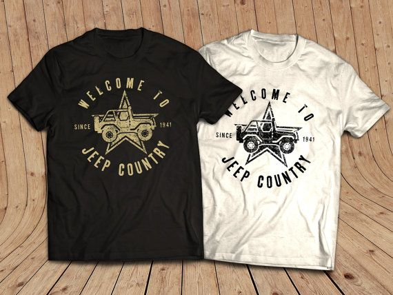 Welcome to Jeep Country T-Shirt JEEP Shirt  t-Shirt by society13