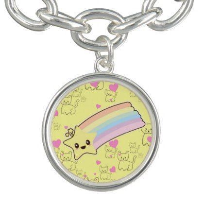 Kawaii RAINBOW cute yellow girly gift - ADD NAME Bracelet - girly gifts girls gift ideas unique special