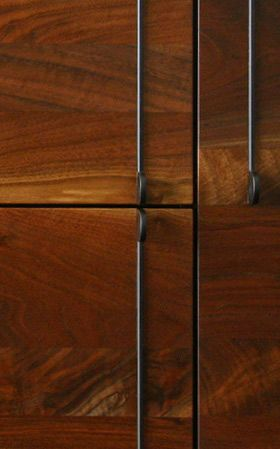 BBDW's Lake Mid Credenza front detail in Claro Walnut