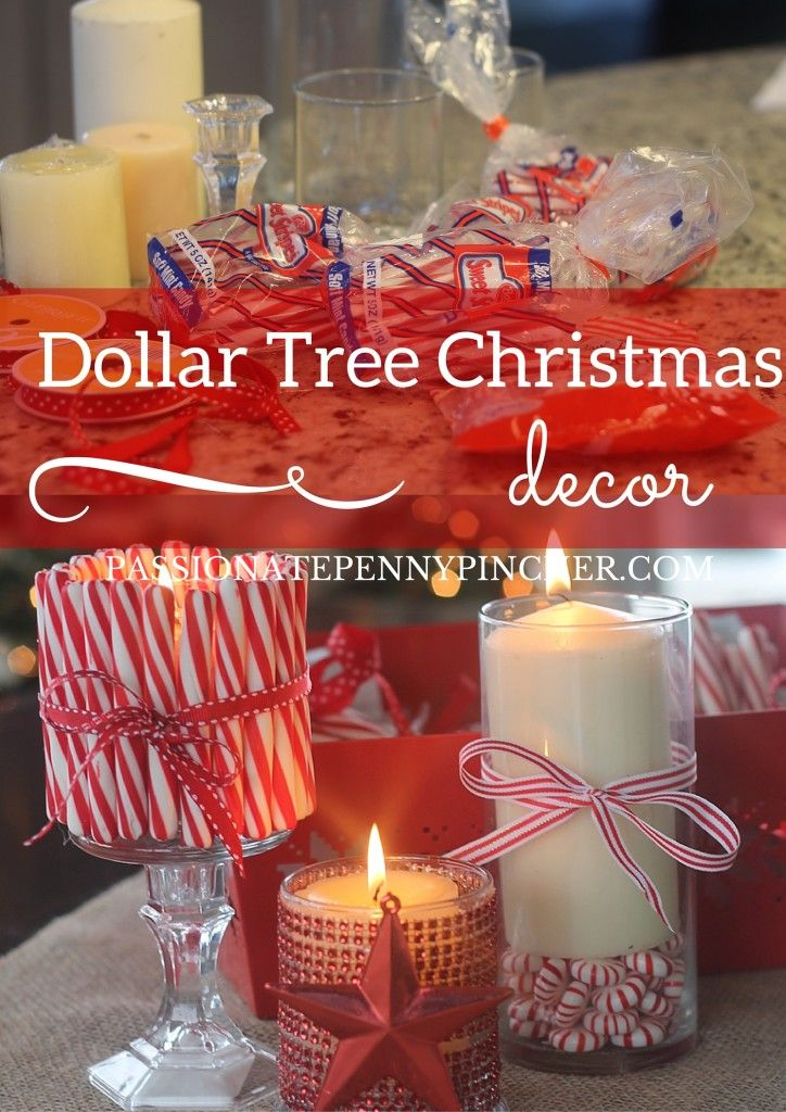 Easy Christmas decorating at the Dollar Tree!