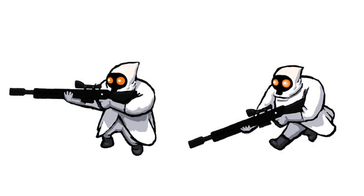 Corporate Long Range Sniper, #conceptart from Corp Wars: The Siege by @Kybernesis #GameDev #CorpWars