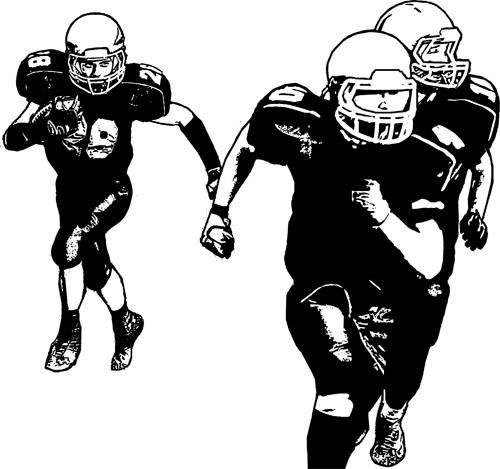 football players sports digital image download graphics black and white art printable football images digital stamp printable wall art