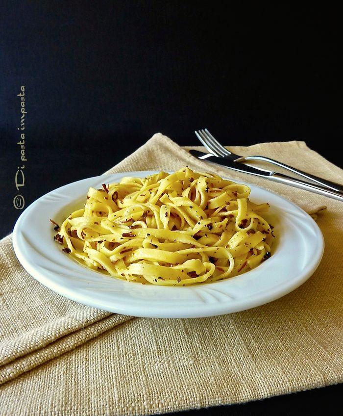 Di pasta impasta: Fettuccine al tartufo nero estivo (scorzone)