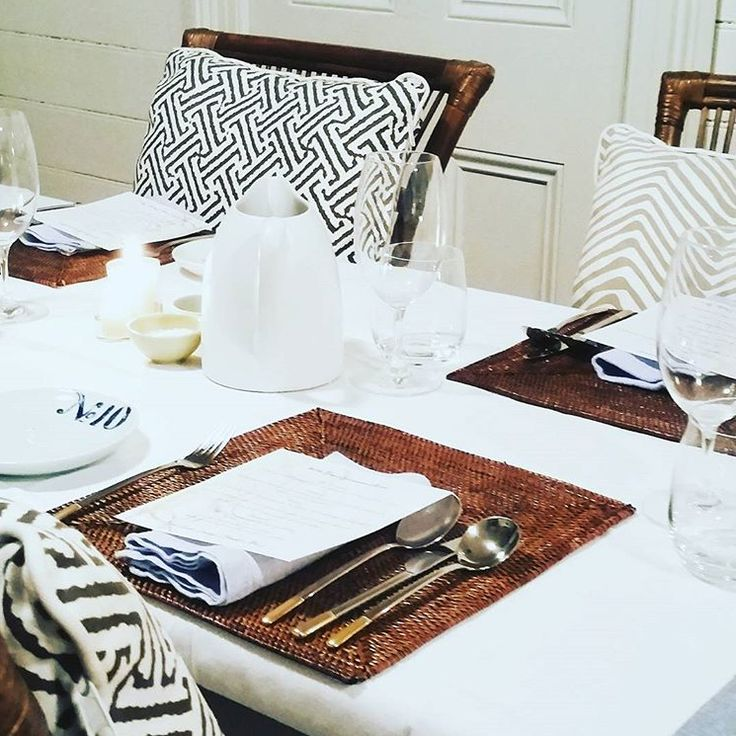 East Coast Lounge have entertaining sorted with our Fine Weave Rattan Placemats 👌