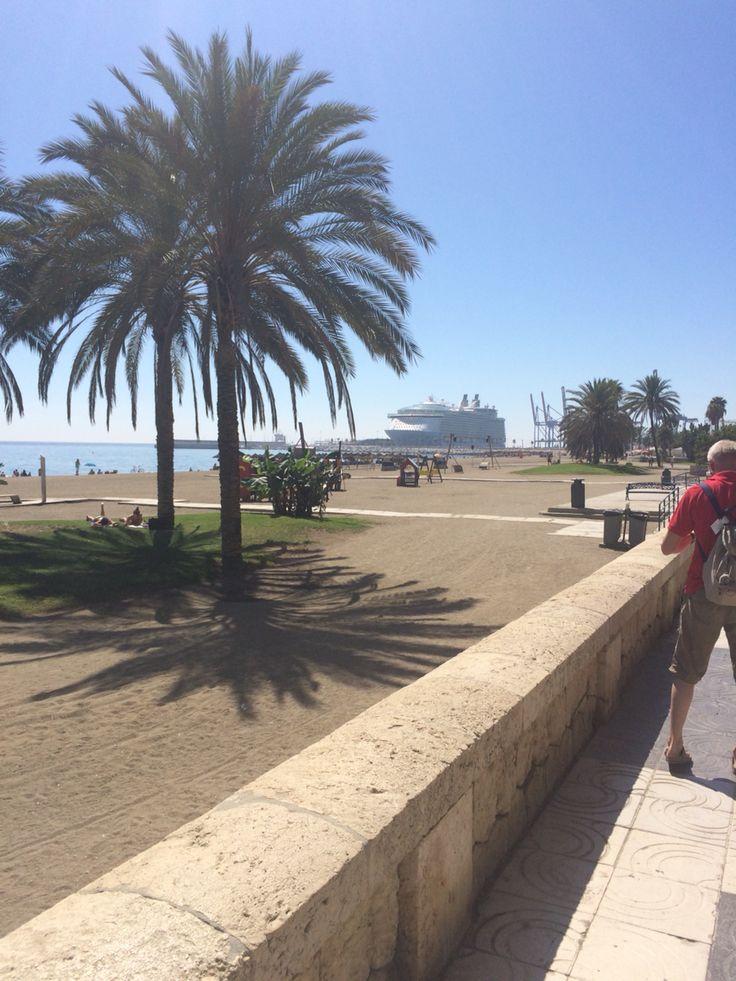 Oasis Cruise ship Malaga, Spain