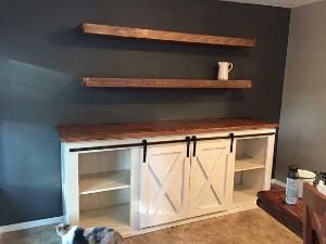 Custom Barn Door Buffet Table - Rustic, Handmade, Farmhouse by Gloria Garcia