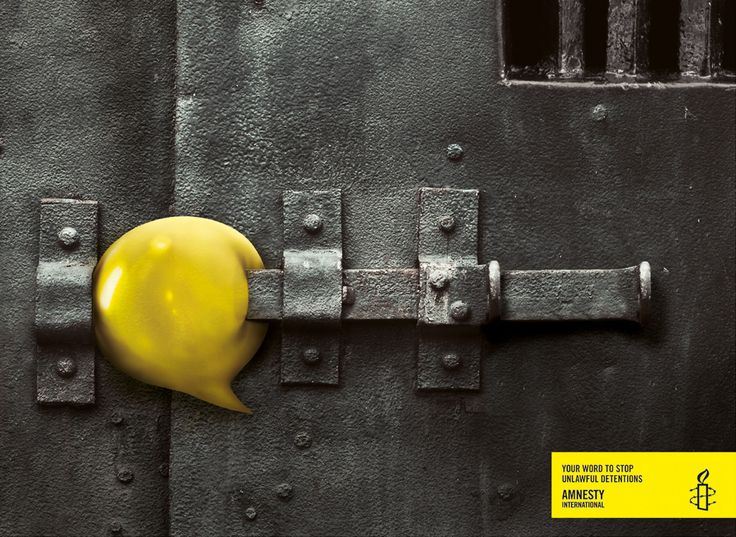 """Your word to stop unlawful detentions"" Amnesty International"