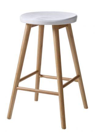 Hoker Cinas Noble drewno bambusowe biały - All4home | Wyposażenie i Dekoracja Wnętrz, Prezenty