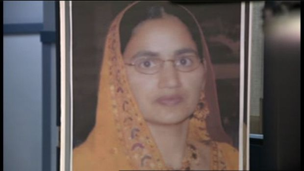 An Abbotsford hit-and-run victim's husband is one of four people charged in connection to her death nearly four years ago, police announced Monday. Kulwinder Kaur Gill, 42, was walking down Townshipline Road in Abbotsford with her husband Iqbal Singh Gill on April 27, 2009   Read more: http://bc.ctvnews.ca/husband-charged-with-murder-in-abbotsford-hit-and-run-1.1249325#ixzz2REdercs2