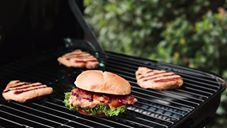 The grill is hot with our NEW Seasonal Smokehouse BBQ Bacon Sandwich.
