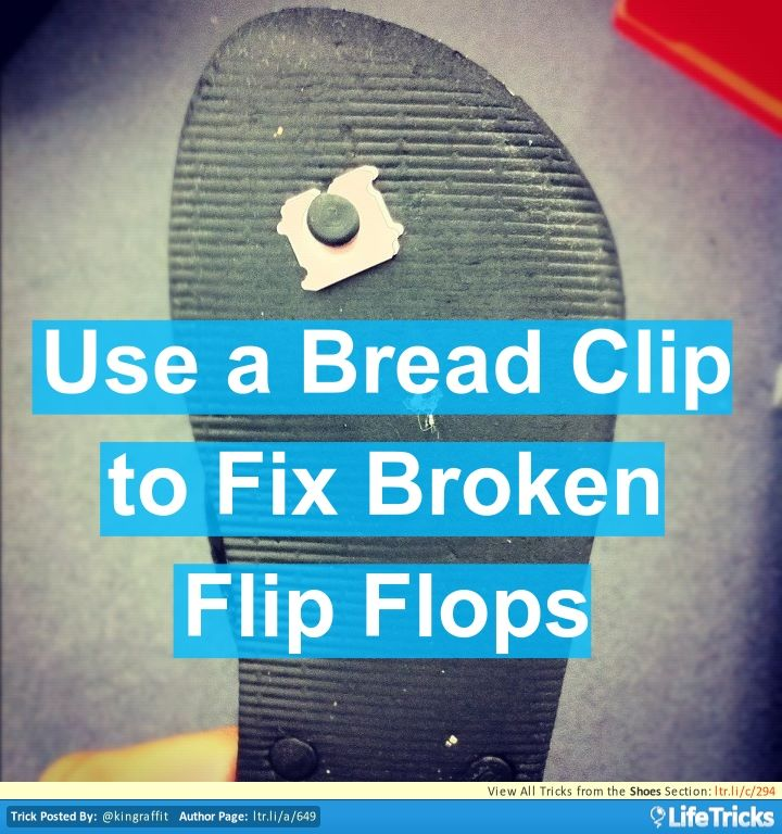 how to fix a broken strap on a shoe