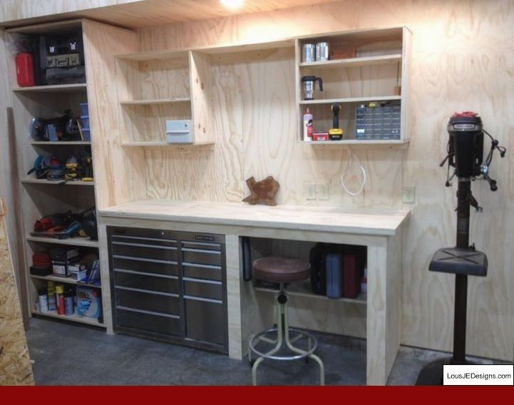 Garage Shop Ideas And How To Soundproof A Garage Workshop Tips 42802630 Garageworkshop Workshopstorage Diy Garage Storage Garage Work Bench Diy Garage