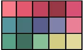 Мягкое лето. Относительно яркие цвета  палитры - это  цветовые  акценты. Их  используют  туда, куда  хотите  привлечь  внимание.  Часто  их используют в  вечернем  гардеробе  и  в  аксессуарах.