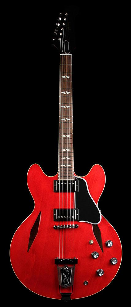 GIBSON Memphis Trini Lopez ES-335 Standard Electric Guitar Antique Faded Cherry | The Music Zoo