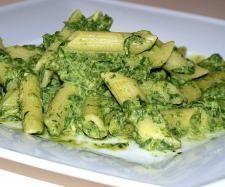 Przepis Penne z sosem szpinakowo-serowym przez anka25 - Widok przepisu Makarony i dania z ryżu
