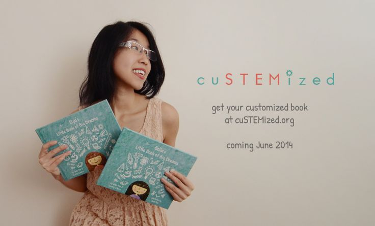 Help encourage the girls in your life to pursue STEM with a motivational customized book. Sign up be one of the first to know when cuSTEMized is ready for you: http://custemized.org
