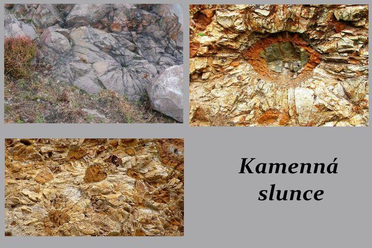 Národní přírodní památka Kamenná slunce je unikátní geologický útvar, který se nachází v CHKO České středohoří asi 1 km jihovýchodně od vesnice Hnojnice.Jedná se o volně přístupný bývalý malý lom o rozloze cca 1 ha, jehož odkrytý řez dokazuje, že tento sopečný komín je bývalým maarem. Nachází se zde odkrytá skalní stěna, na níž jsou viditelné zvláštní struktury podobné dětským kresbám slunce – odtud název Kamenná slunce.