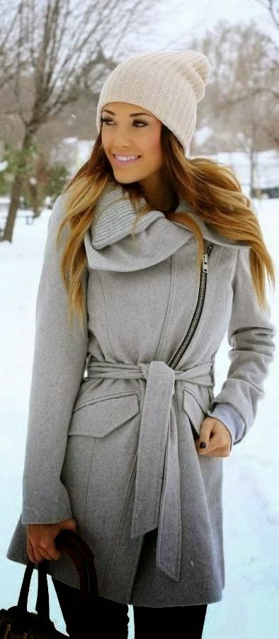 Grey Warehouse Rib Collar Biker Coat