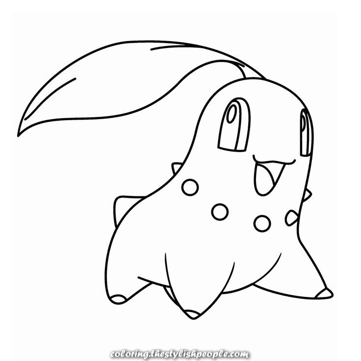 Chikorita With Images Pokemon Coloring Pages Pokemon Coloring