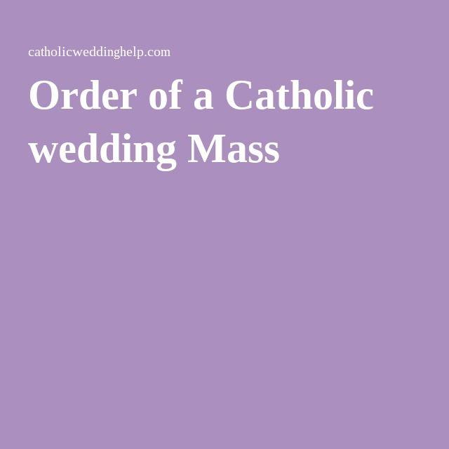 Order of a Catholic wedding Mass
