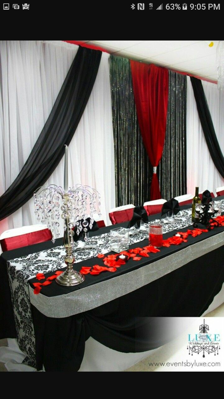 Wedding decorations red   best Wedding images on Pinterest  Wedding ideas Weddings and