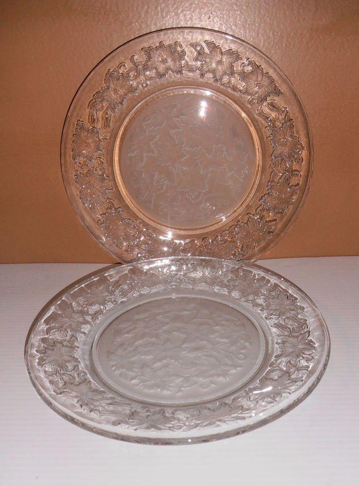 Set Of 2 Princess House Fantasia 10 Dinner Plates