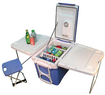 Blue Party Cart.   Don't have to go far from the cooler.  @Kirsten Wehrenberg-Klee Wehrenberg-Klee Wehrenberg-Klee Giffen