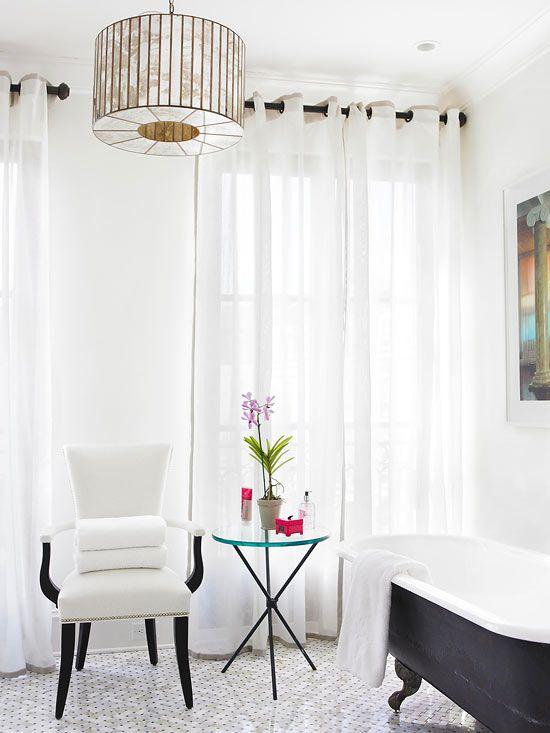 Stylish bathroom color schemes bathroom black white and color schemes - Pristine shades white home decor ...