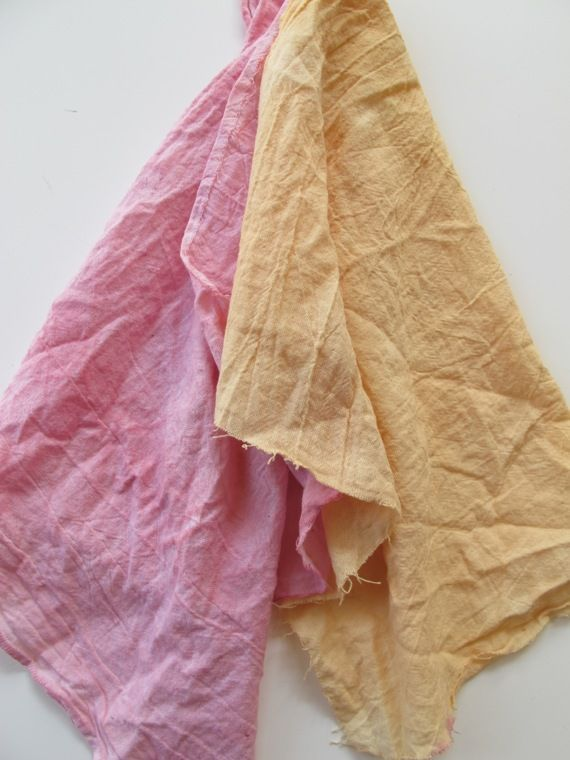 natural-dyes __ beet & onion skin