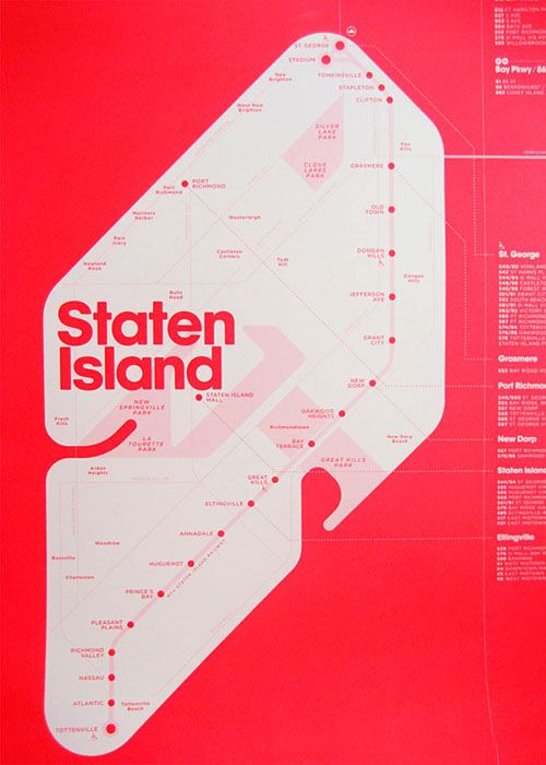 Creative Review - NYC's absurdist Subway map