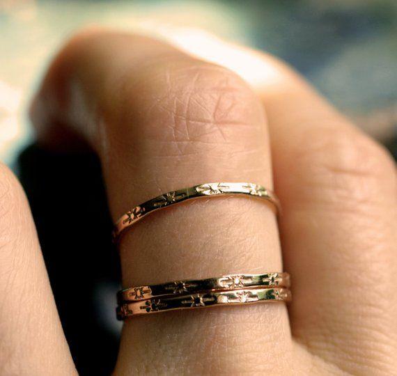 Tiny Star Ring 14k Gold Ring 10k Gold Sterling Star Band Etsy Dainty Gold Rings 14k Gold Ring Skinny Rings