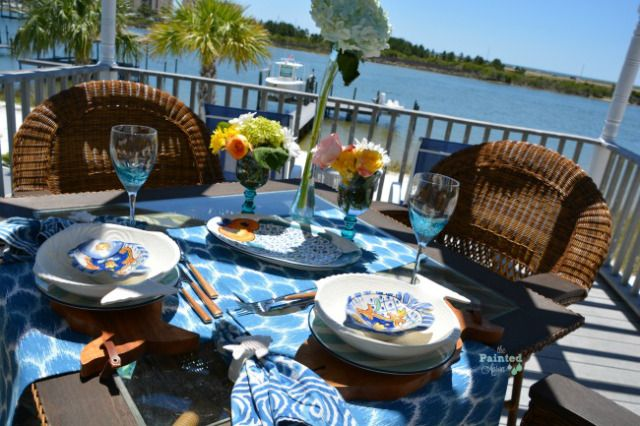 Tablescapes, Tropical Table with Pescado & Hunky Monkey | The Painted Apron