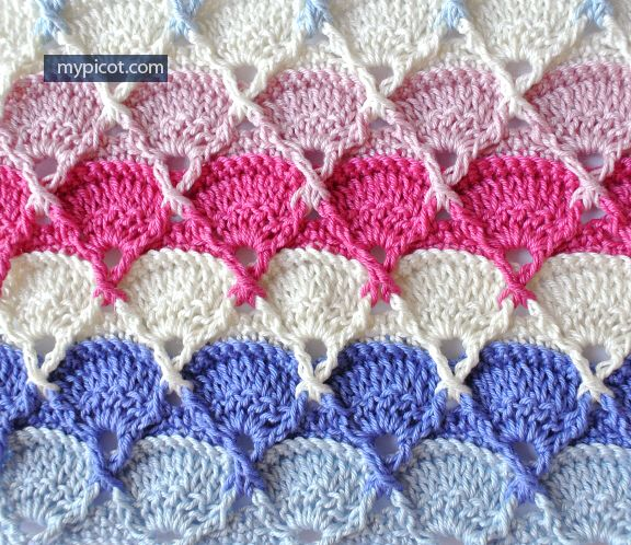 Crochet Textured Stitch Tutorial - (mypicot)