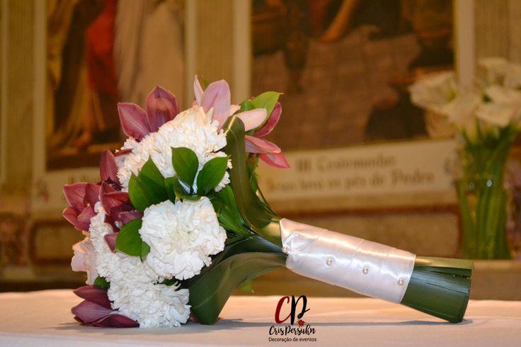 Bouquet para noiva em tom marsala