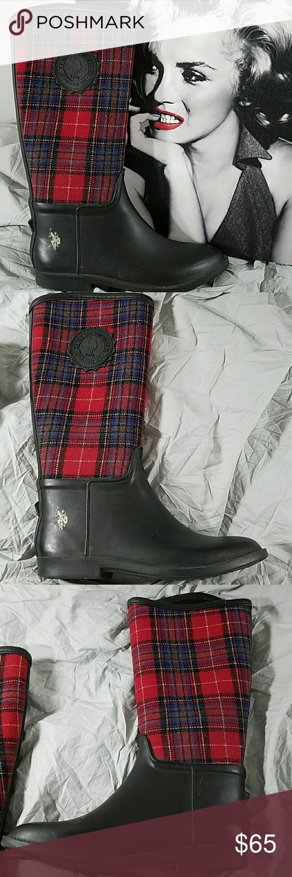 Ralph Lauren U.S. POLO ASSN. SPORTWEAR BOOTS Great condition  Height 14 inches Polo by Ralph Lauren Shoes Winter & Rain Boots