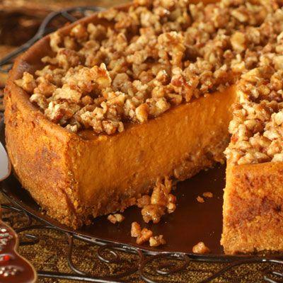 Pumpkin Praline Cheesecake  (maybe sweet potato, instead of pumpkin???)Autumn Fall, Pumpkin Recipe, Cream Cheese, Fall Cheesecake, Cheesecake Recipe, Pumpkin Cheesecake, Praline Cheesecake, Pumpkin Pies, Pumpkin Praline