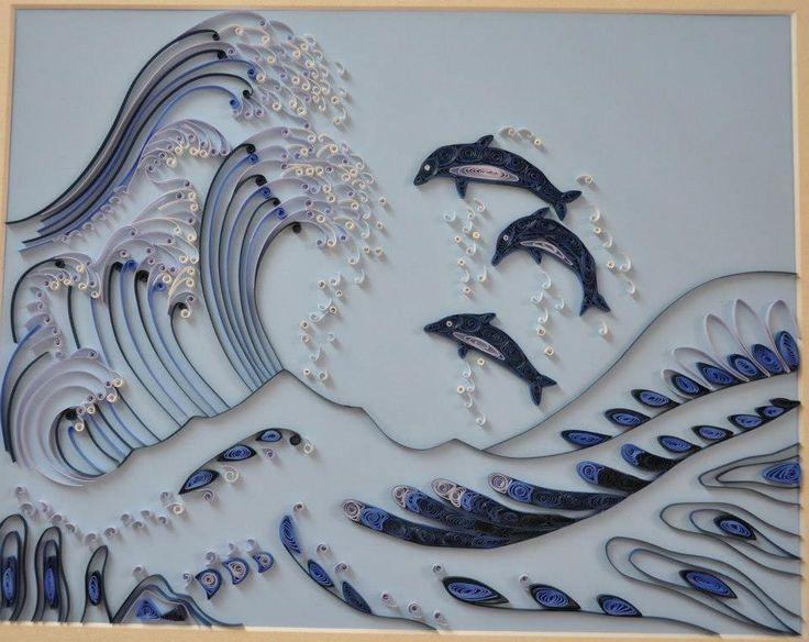 картинки из квиллинга волны снежную битву
