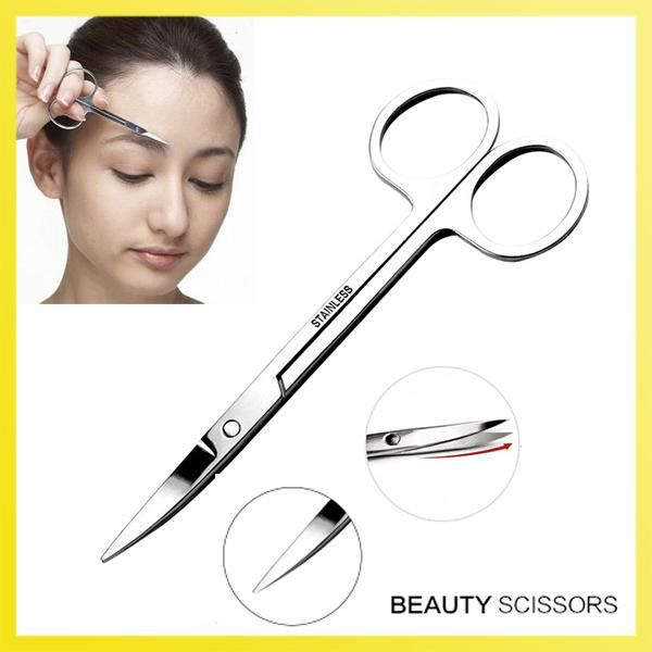 [Visit to Buy] EyeBrow Hair Scissors Cutter Stainless Steel Trimming Mini Facial Hair Brow Shaper Makup Beauty Tool #Advertisement
