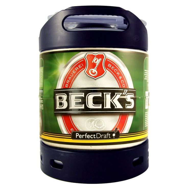 Becks Bier Draft 6 Litre Lager Keg for use with Philips Perfect Draft Machine