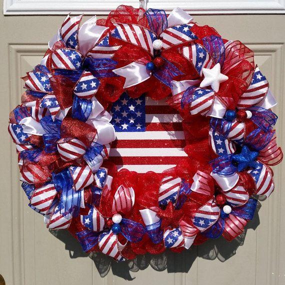 NEW ... God Bless The USA Sparkling  Patriotic by TheRobinsNestMI