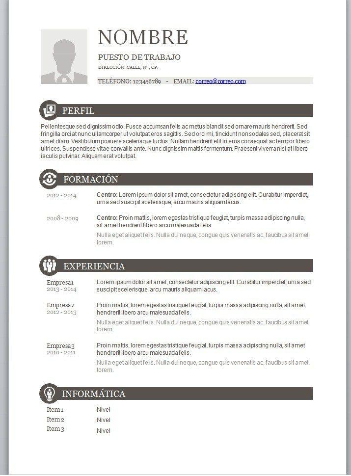 Curriculum Vitae En Blanco Para Llenar En Word Nespap Unescobkk Org
